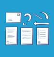 office document and pin for fixation set vector image vector image