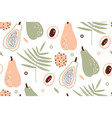 papaya pattern tropical fruits scandinavian vector image