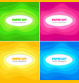 paper cut background vector image vector image