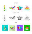 party and birthday symbol vector image vector image