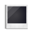 Polaroid photo frame isolated on white background vector image vector image