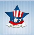 poster with uncle sam hat vector image