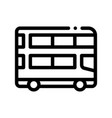 public transport double-decker bus icon vector image vector image