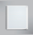 Realistic spiral notebook vector image vector image