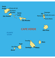 Republic of Cabo Verde - map vector image