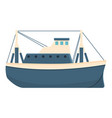 river fishing boat icon cartoon style vector image vector image