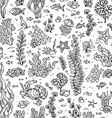 Seamless summer pattern of sea life vector image vector image