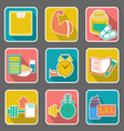 Set of flat icons diet and fitness vector image vector image