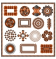 Set of isolated geometric patterns vector image vector image