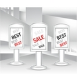 Template Light boxes or concept best sale vector image vector image