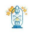 traditional arabic lantern muslim ramadan blue vector image vector image