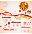 Tree summer calendar 2012 vector | Price: 1 Credit (USD $1)