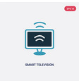 two color smart television icon from smart home vector image