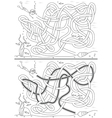 Undersea maze vector image vector image