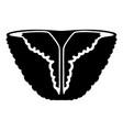 vintage bikini icon simple black style vector image vector image