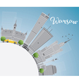 Warsaw skyline with grey buildings vector image vector image