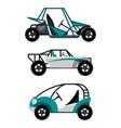 set of different buggy cars on vector image