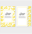 template of invitation or poster with bananas for vector image