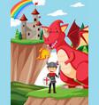 a fairytale fantasy land vector image vector image