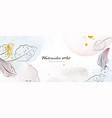 abstract background watercolor with botanical vector image