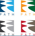 Abstract path or river labels set