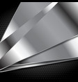 Abstract silver metal background vector image vector image