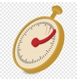 Analog stopwatch cartoon vector image vector image