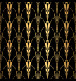 art deco pattern seamless black and gold vector image vector image