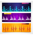 Audio Equalizer Banners Set vector image vector image