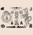 aztec and mayan ornaments ancient mexican pattern vector image
