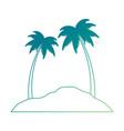 beach landscape scene icon vector image