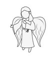 beautiful angel cartoon vector image vector image