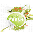 bio sticker with floral vector image vector image