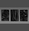 black plastic stretched film for wrapping vector image vector image
