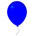 Blue balloon icon vector image vector image