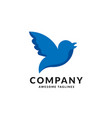 blue bird fly symbol vector image