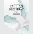 blue green save date birthday invitation card vector image vector image