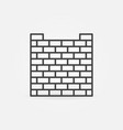 brick fence linear concept icon vector image vector image