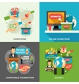 Charity Concept Icons Set vector image vector image