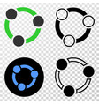 collaboration eps icon with contour version vector image vector image
