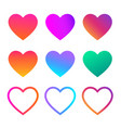 collection heart love symbol vector image vector image