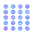 colorful set with outline icons of sewing vector image vector image