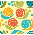 Colorful snails pattern vector image
