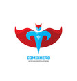 comix hero - logo template concept in flat vector image