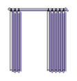 curtain semi open purple watercolor silhouette on vector image