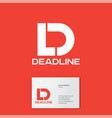d l monogram logo deadline business card vector image vector image