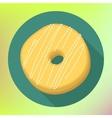 Donut flat icon Doughnut pictogram vector image vector image