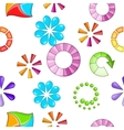 Download pattern cartoon style vector image vector image