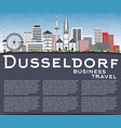 dusseldorf skyline with gray buildings blue sky vector image