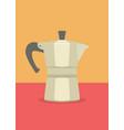 espresso pot vector image vector image